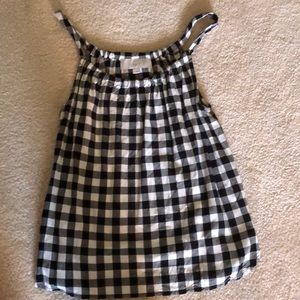 LOFT black and white checkered tank top